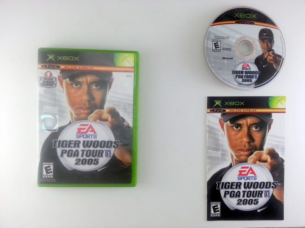Tiger Woods 2005 game for Microsoft Xbox -Complete