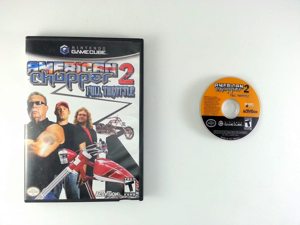American Chopper 2 Full Throttle game for Nintendo Gamecube -Game & Case