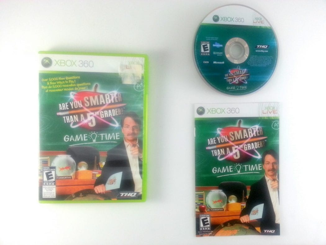 Are You Smarter Than A 5th Grader? Game Time game for Xbox 360 Complete