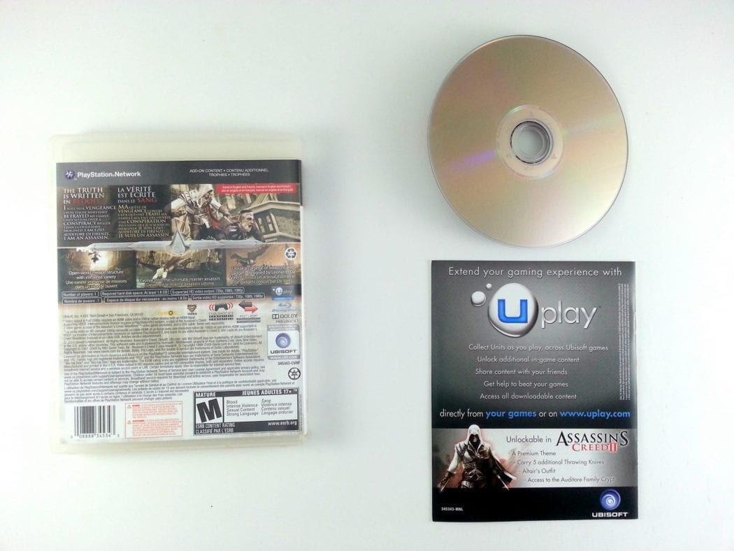 Assassin's Creed II game for Playstation 3 (Complete) | The Game Guy