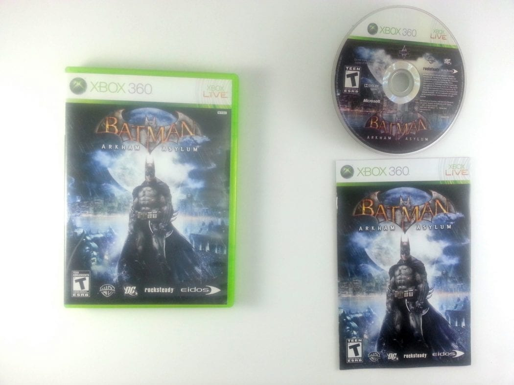 Batman: Arkham Asylum game for Microsoft Xbox 360 -Complete