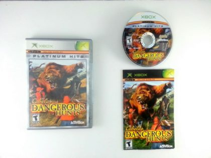 Cabela's Dangerous Hunts game for Microsoft Xbox -Complete