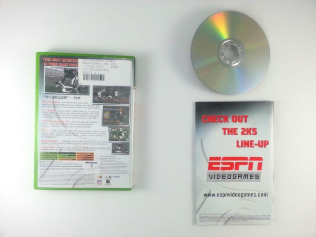ESPN Football 2005 game for Xbox (Complete) | The Game Guy