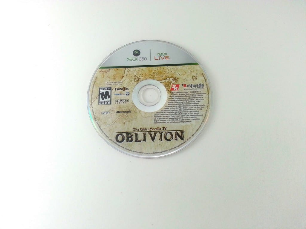 Elder Scrolls IV Oblivion game for Microsoft Xbox 360 - Loose