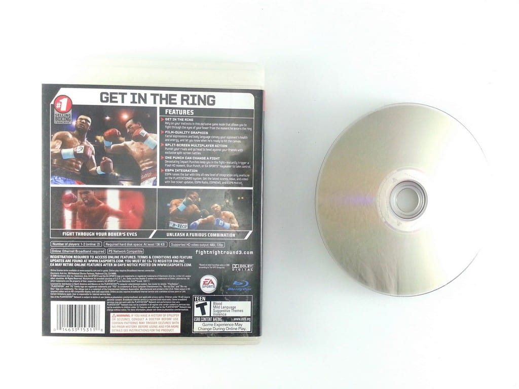 Fight Night Round 3 game for Playstation 3   The Game Guy