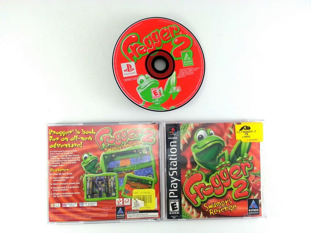Frogger 2 Swampy's Revenge game for Sony Playstation PS1 PSX -Complete