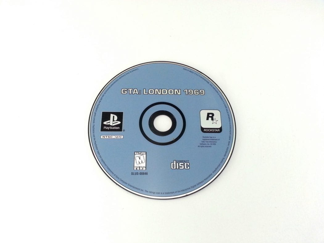 Grand Theft Auto London Mission Pack game for Sony Playstation PS1 PSX - Loose