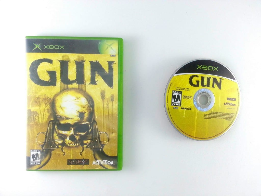 Gun game for Microsoft Xbox -Game & Case