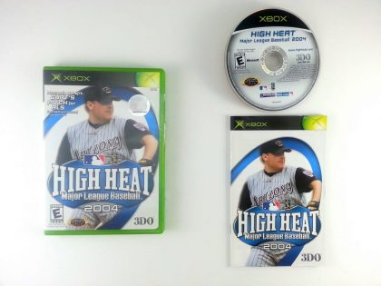 High Heat Baseball 2004 game for Microsoft Xbox -Complete