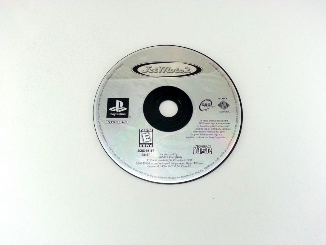 Jet Moto 2 game for Sony Playstation PS1 PSX - Loose