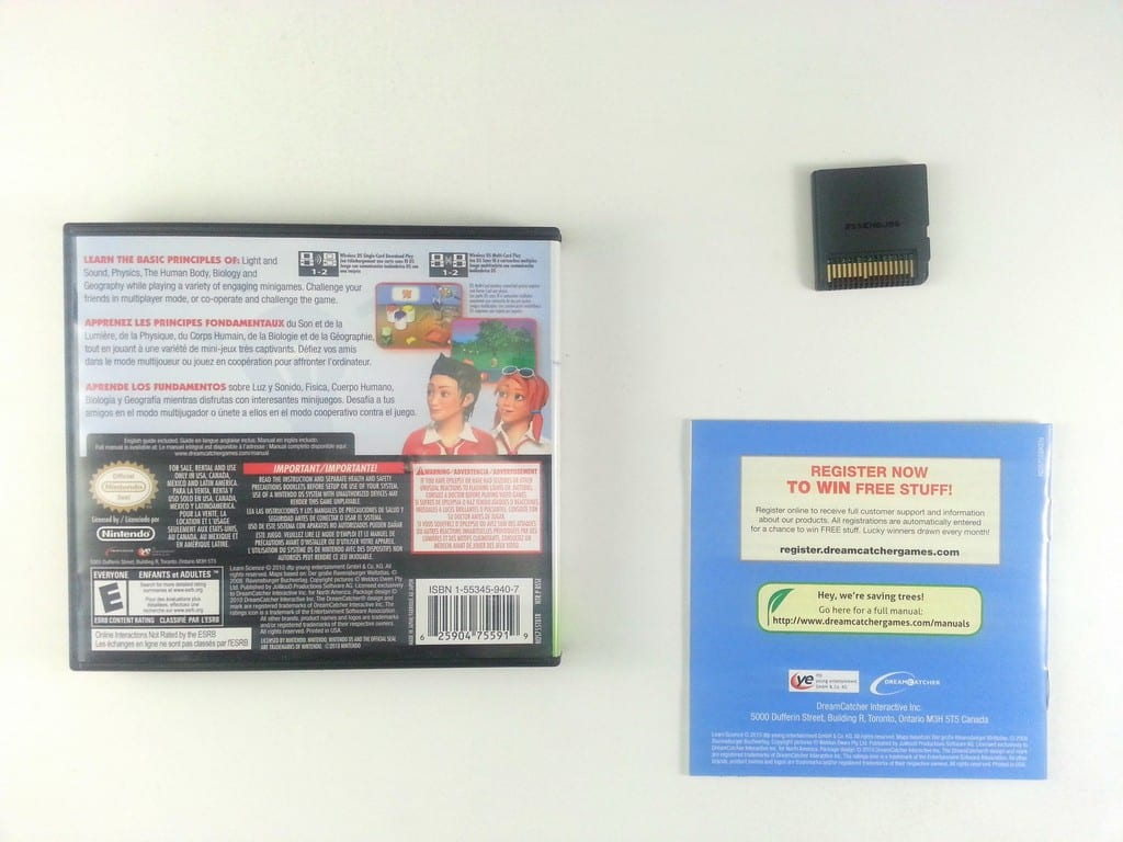 Learn Science game for Nintendo DS -Complete