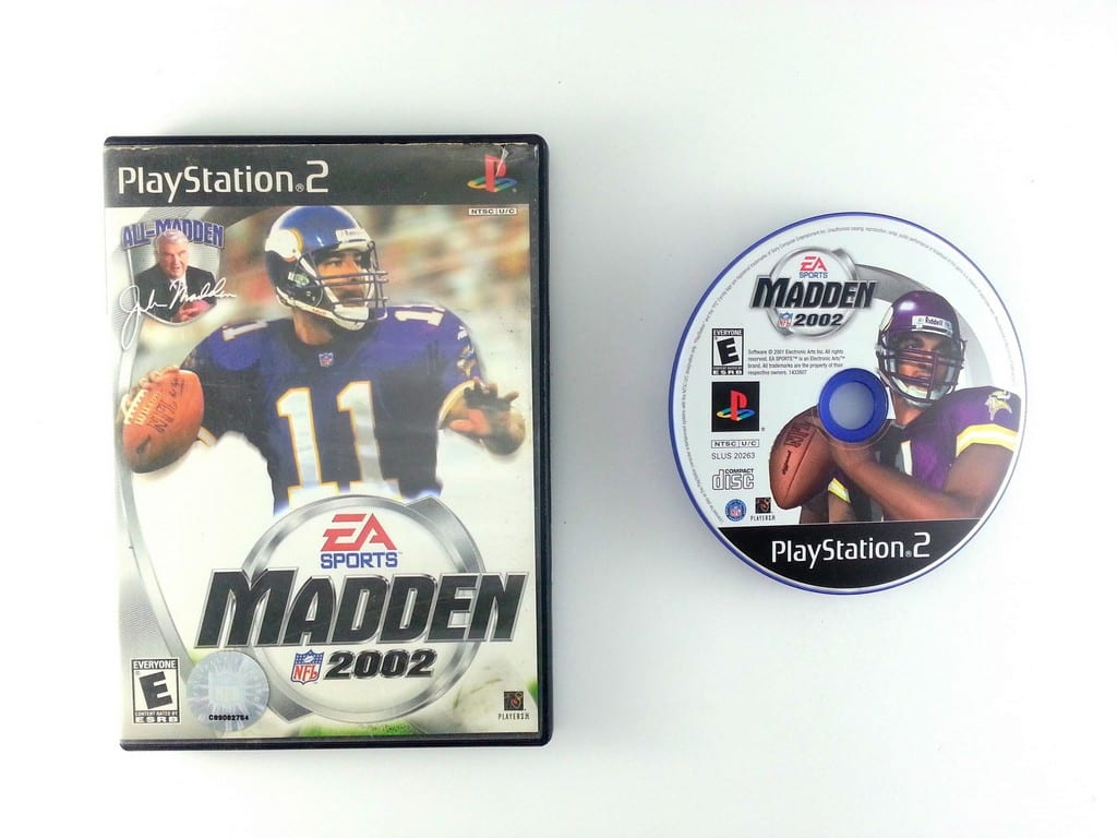 Madden 2002 game for Sony Playstation 2 PS2 -Game & Case