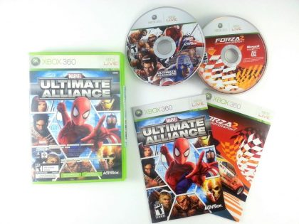 Marvel Ultimate Alliance & Forza 2 game for Microsoft Xbox 360 -Complete