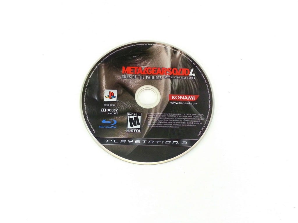 Metal Gear Solid 4 Guns of the Patriots game for Playstation 3 PS3 - Loose