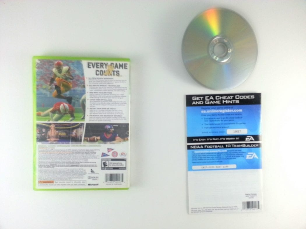NCAA Football 10 game for Xbox 360 (Complete) | The Game Guy