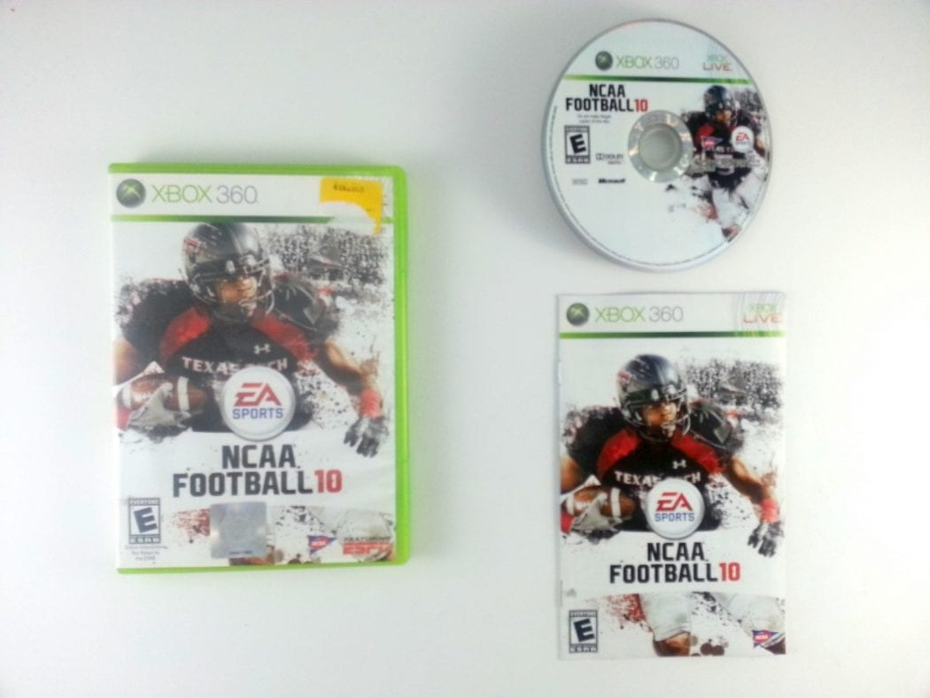 NCAA Football 10 game for Microsoft Xbox 360 -Complete