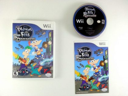 Phineas and Ferb: Across the Second Dimension game for Nintendo Wii -Complete