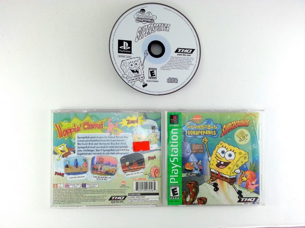 SpongeBob SquarePants Super Sponge game for Sony Playstation PS1 PSX -Complete