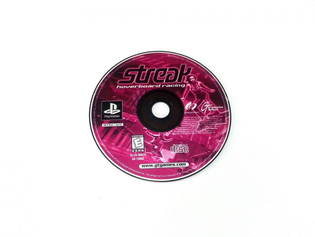 Streak Hoverboard Racing game for Sony Playstation PS1 PSX - Loose