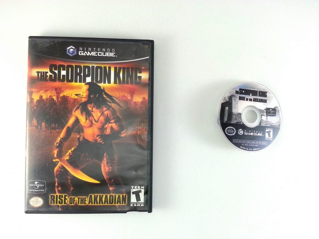 The Scorpion King Rise of the Akkadian game for Nintendo Gamecube -Game & Case