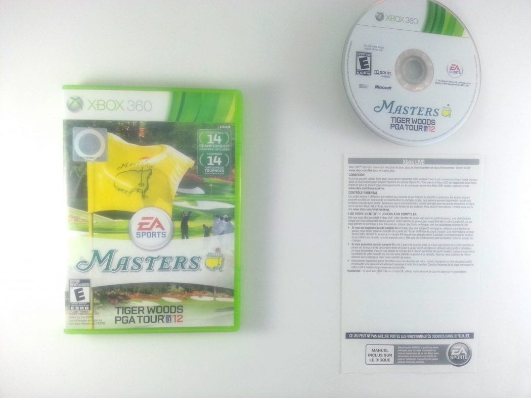 Tiger Woods PGA Tour 12: The Masters game for Microsoft Xbox 360 -Complete
