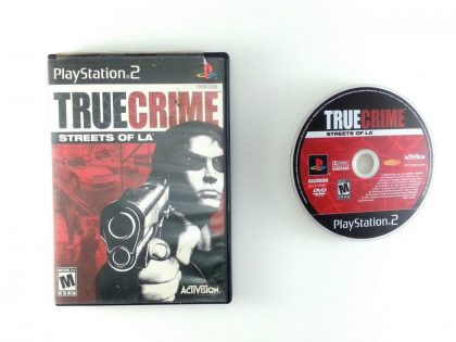 True Crimes Streets of LA game for Sony Playstation 2 PS2 -Game & Case