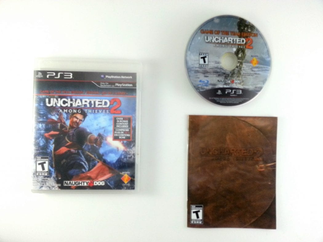 Uncharted 2 Among Thieves Game of Year Edition game for PS3 Complete