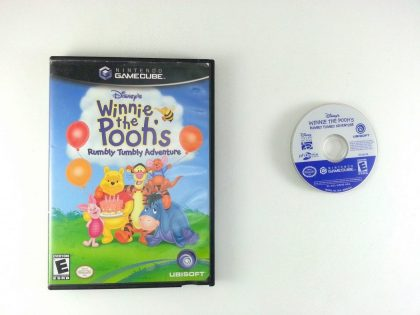 Winnie the Pooh Rumbly Tumbly Adventure game for Nintendo Gamecube -Game & Case