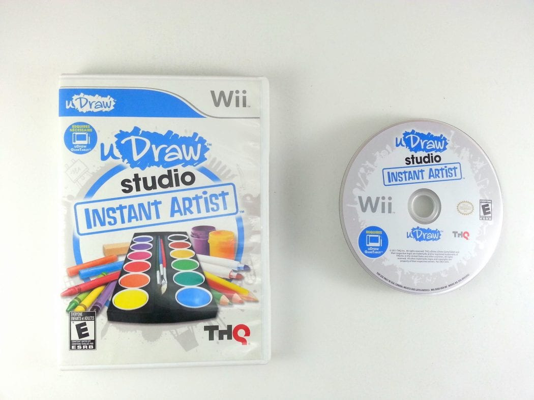 uDraw Studio: Instant Artist game for Nintendo Wii -Game & Case