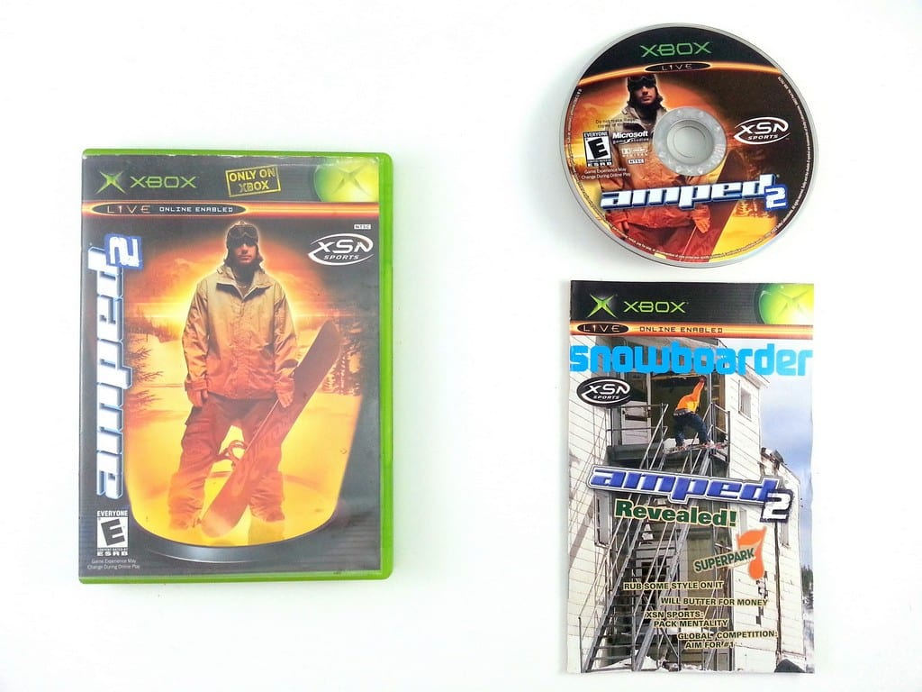 Amped Snowboarding 2 game for Microsoft Xbox -Complete