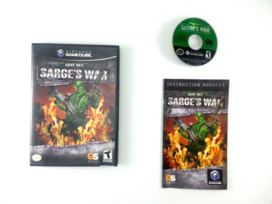 Army Men Sarge's War game for Nintendo Gamecube -Complete