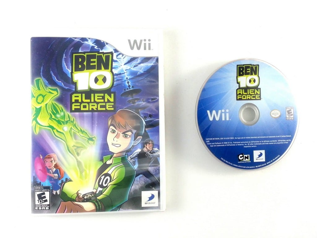 Ben 10 Alien Force game for Nintendo Wii -Game & Case