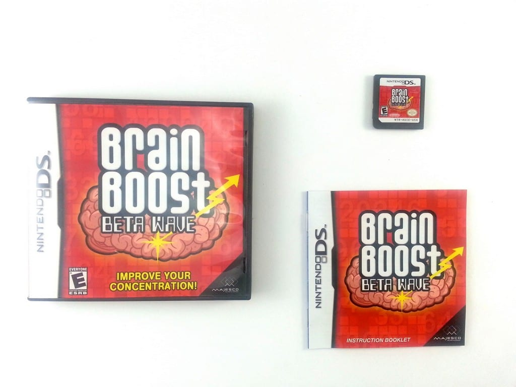Brain Boost Beta Wave game for Nintendo DS -Complete