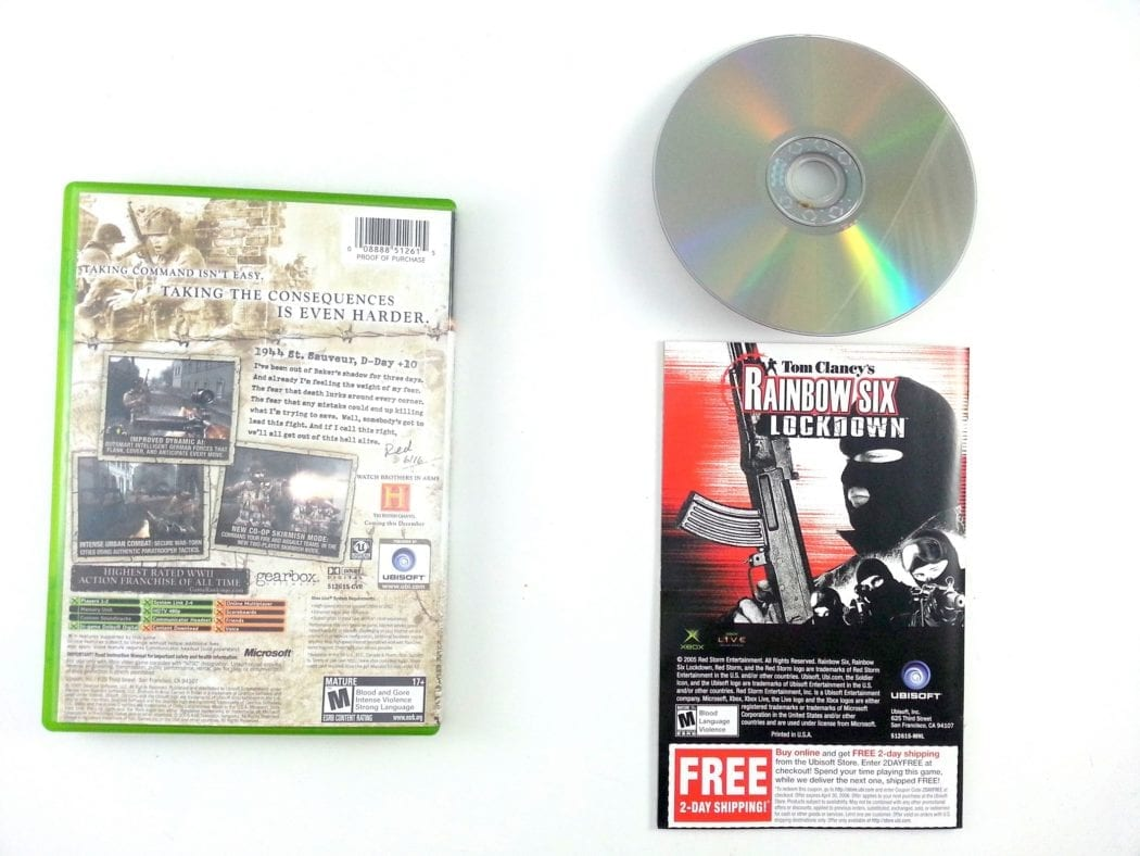 Brothers in Arms Earned in Blood game for Xbox (Complete)   The Game Guy