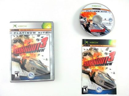 Burnout 3 Take Down game for Microsoft Xbox -Complete