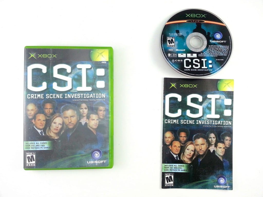 CSI Crime Scene Investigation game for Microsoft Xbox -Complete