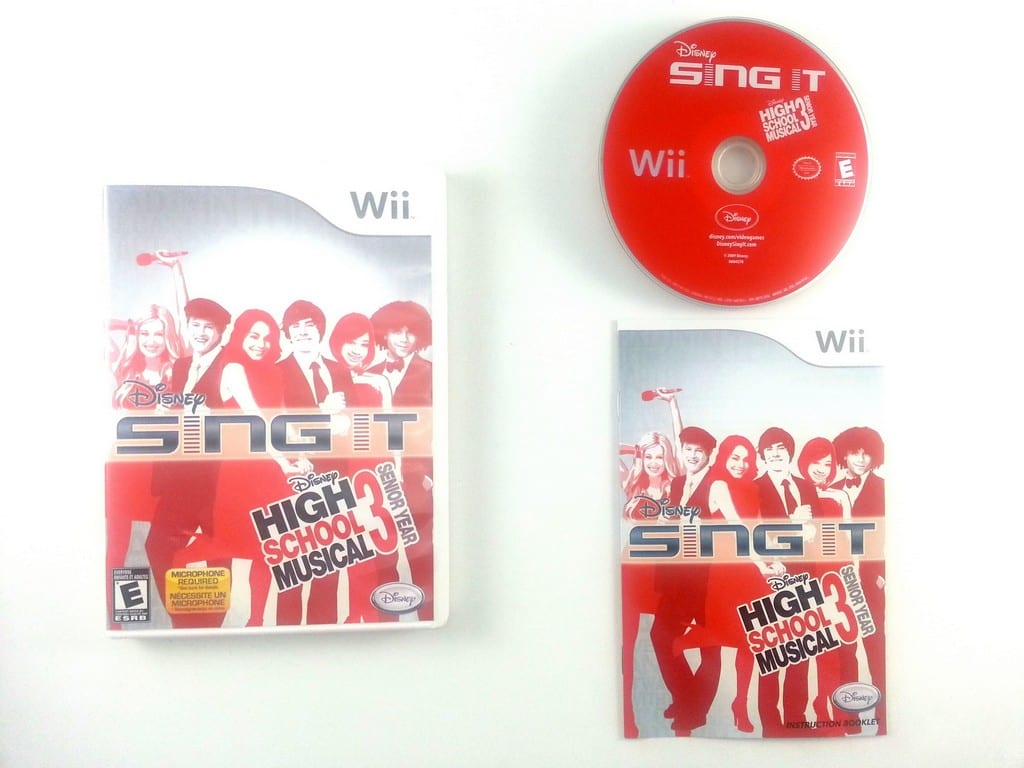 Disney Sing It High School Musical 3 Bundle game for Nintendo Wii -Complete
