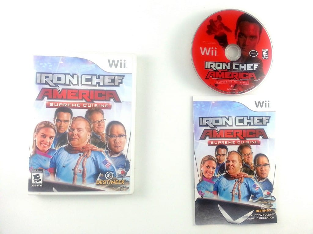 Iron Chef America Supreme Cuisine game for Nintendo Wii -Complete
