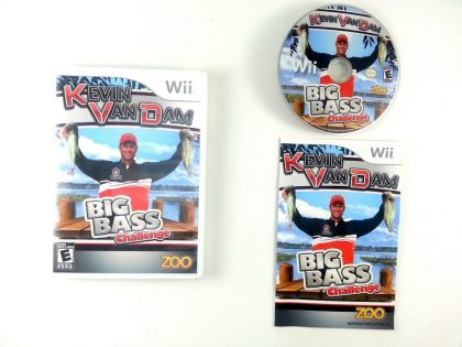 Kevin VanDam's Big Bass Challenge game for Nintendo Wii -Complete