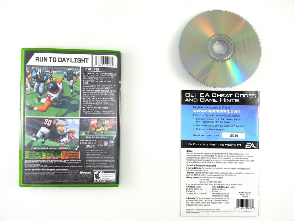 Madden 2007 game for Xbox (Complete) | The Game Guy