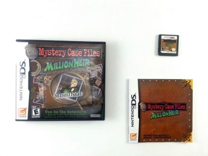Mystery Case Files MillionHeir game for Nintendo DS -Complete