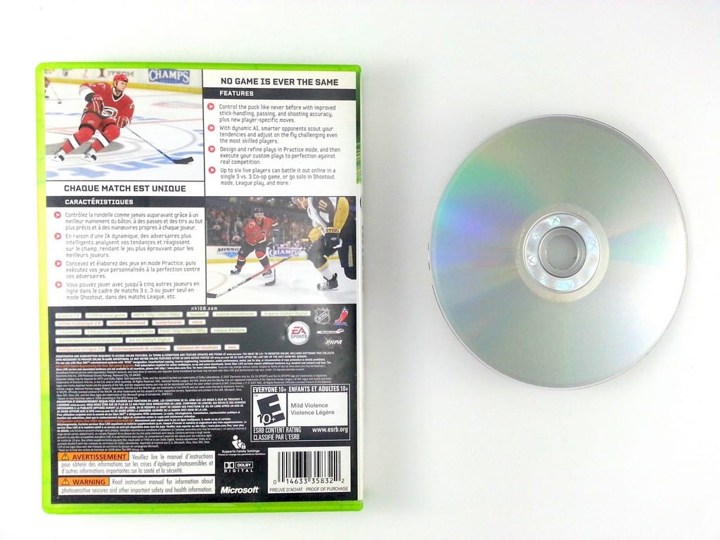 NHL 08 game for Xbox 360 | The Game Guy