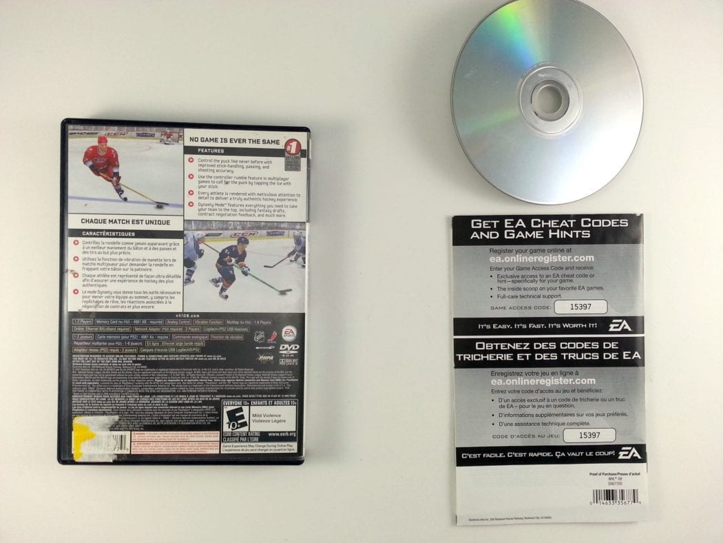 NHL 08 game for Playstation 2 (Complete)   The Game Guy