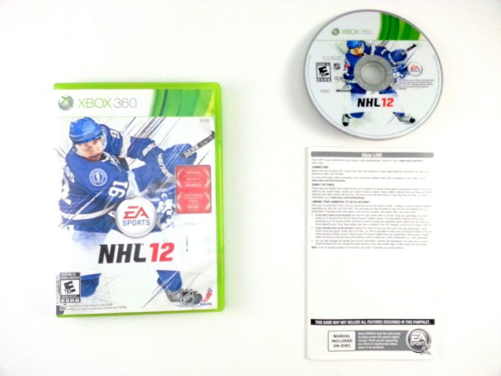 NHL 12 game for Microsoft Xbox 360 -Complete