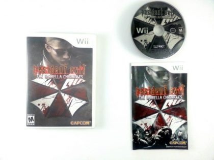 Resident Evil The Umbrella Chronicles game for Nintendo Wii -Complete