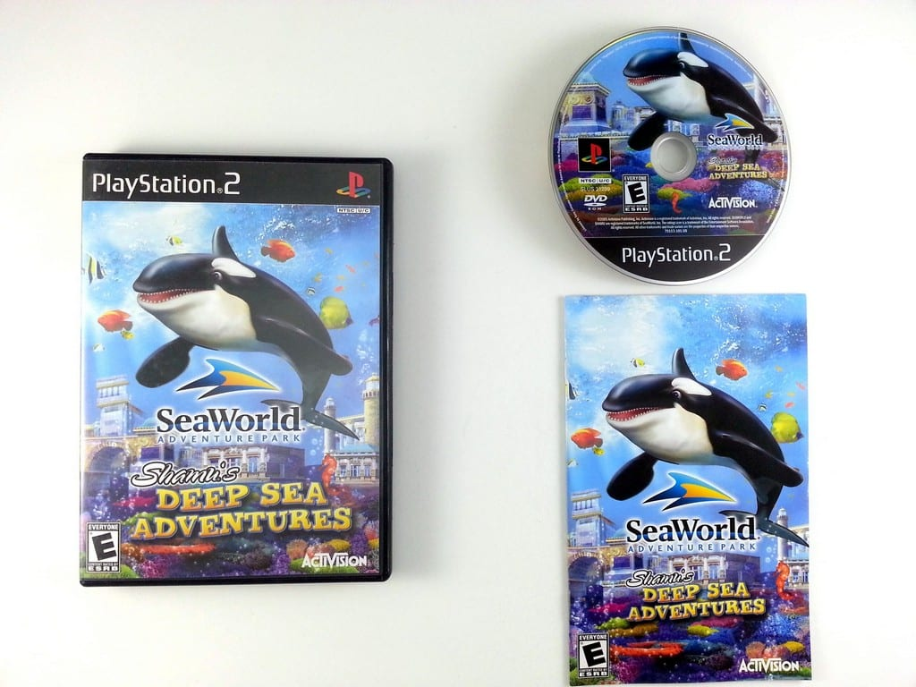 Shamu's Deep Sea Adventure game for Sony Playstation 2 PS2 -Complete