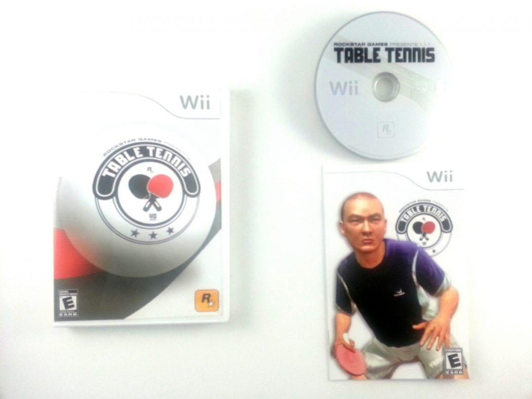 Table Tennis game for Nintendo Wii -Complete