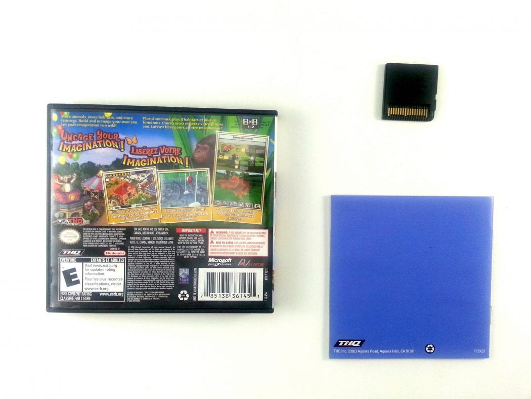 zoo tycoon 2 game for nintendo ds complete the game guy. Black Bedroom Furniture Sets. Home Design Ideas