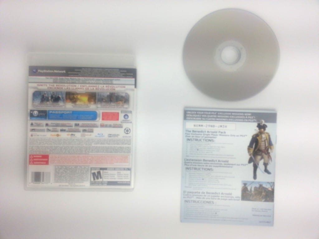 Assassin's Creed III game for Playstation 3 (Complete)   The Game Guy