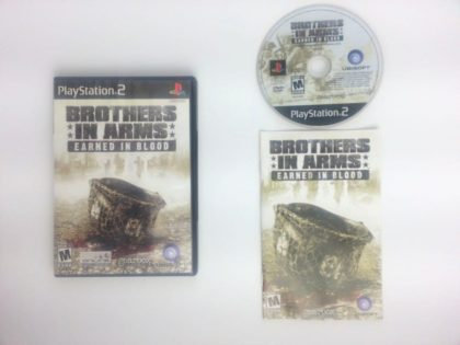 Brothers in Arms Earned in Blood game for Sony Playstation 2 PS2 -Complete